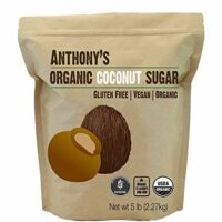 Anthony's Organic Coconut Sugar, 5lb, Gluten Free, Non GMO, Vegan, Natural Sweetener
