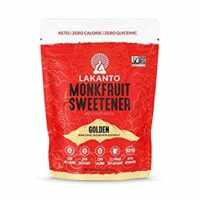Lakanto Monkfruit Sweetener, 1:1 Sugar Substitute, Keto, Non-GMO (Golden - 1 Pound)