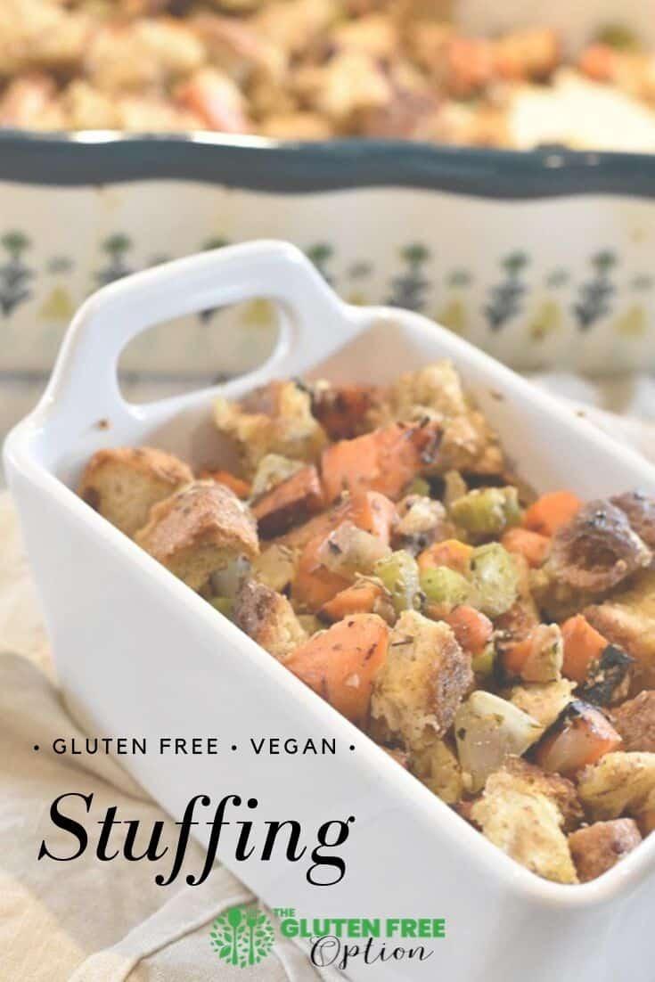 Gluten-free vegan stuffing