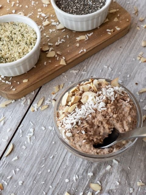 "Peanut Butter and Chocolate Overnight ""Oats"""