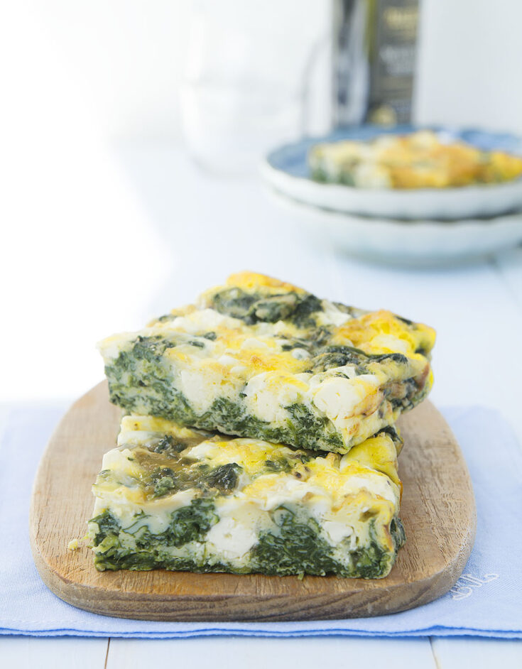 Baked Frittata with Spinach and Feta