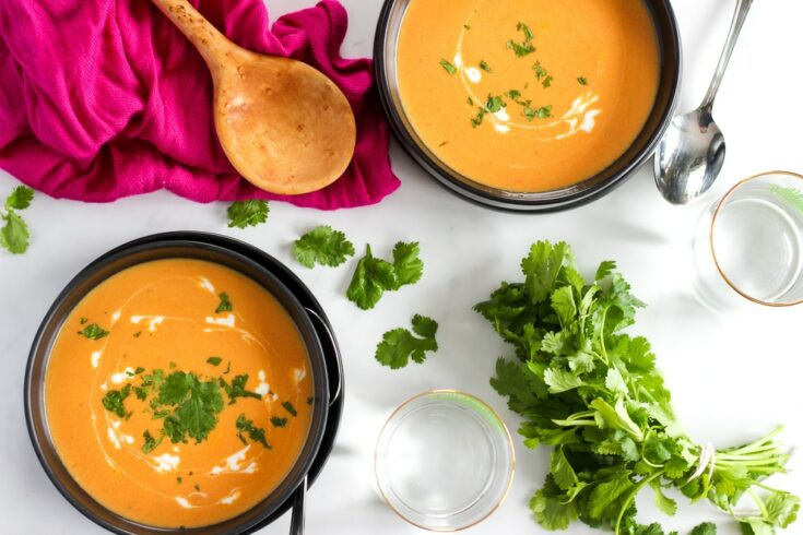 Thai Curry Soup - with squash, carrots or sweet potatoes!
