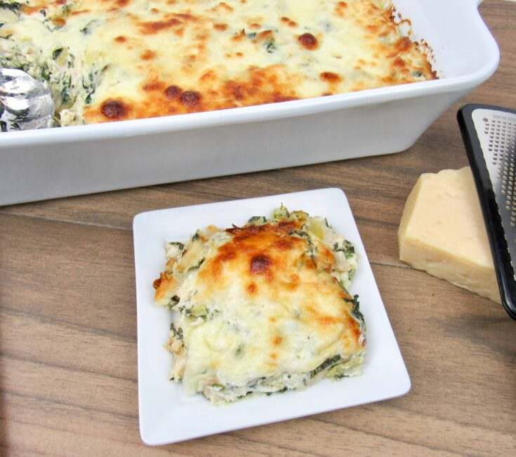 Spinach Artichoke Chicken Casserole - Keto and Low Carb