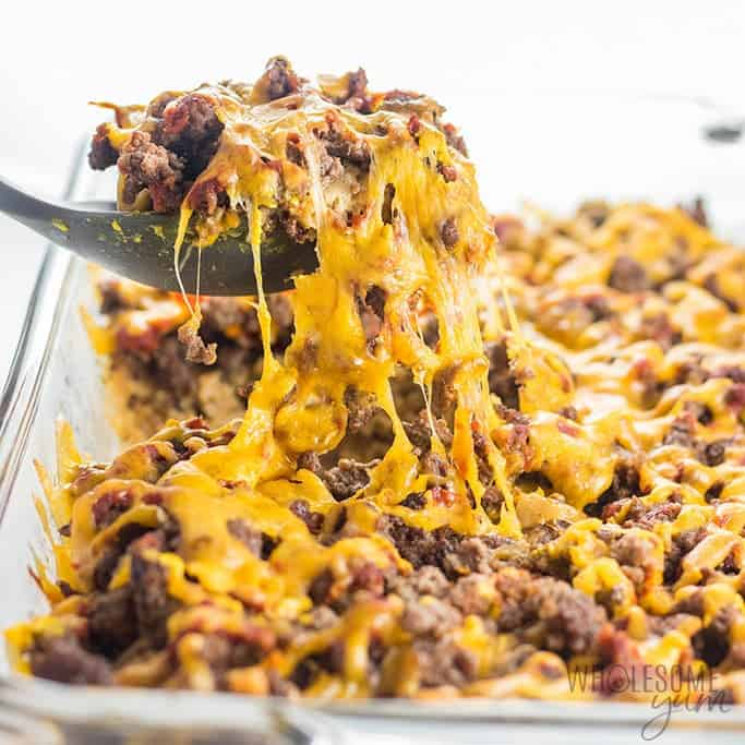 Easy Low Carb Keto Cheeseburger Casserole Recipe
