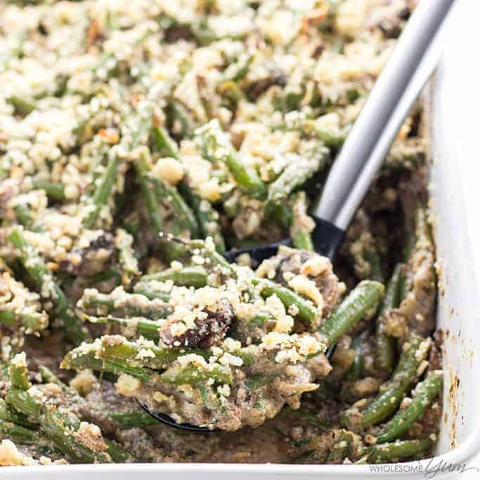 Low Carb Gluten-Free Green Bean Casserole Recipe