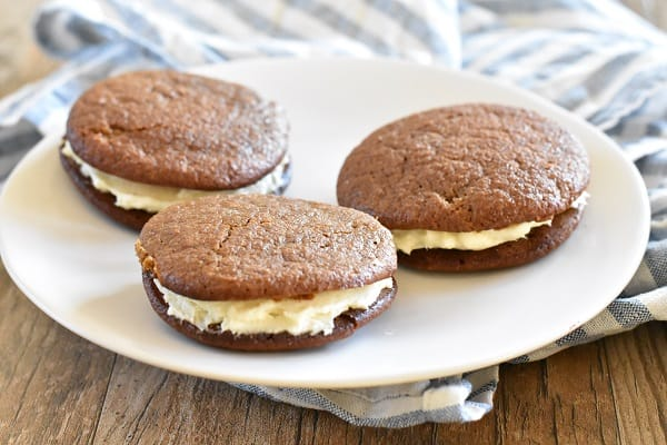 Gingerbread Whoopie Pies { Gluten Free}
