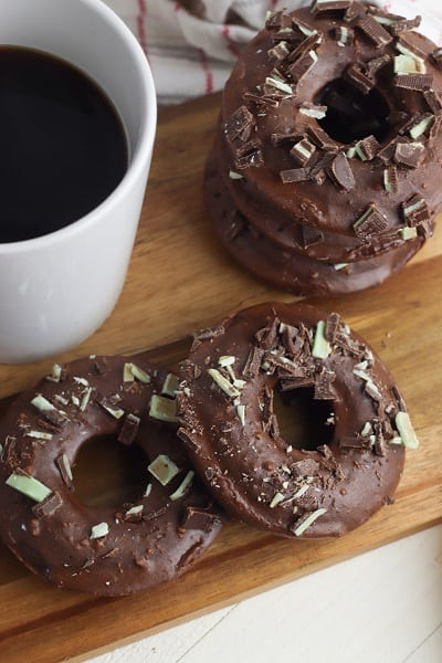 Gluten Free Mint Chocolate Donuts